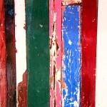 Detalle madera utilizada en el bar