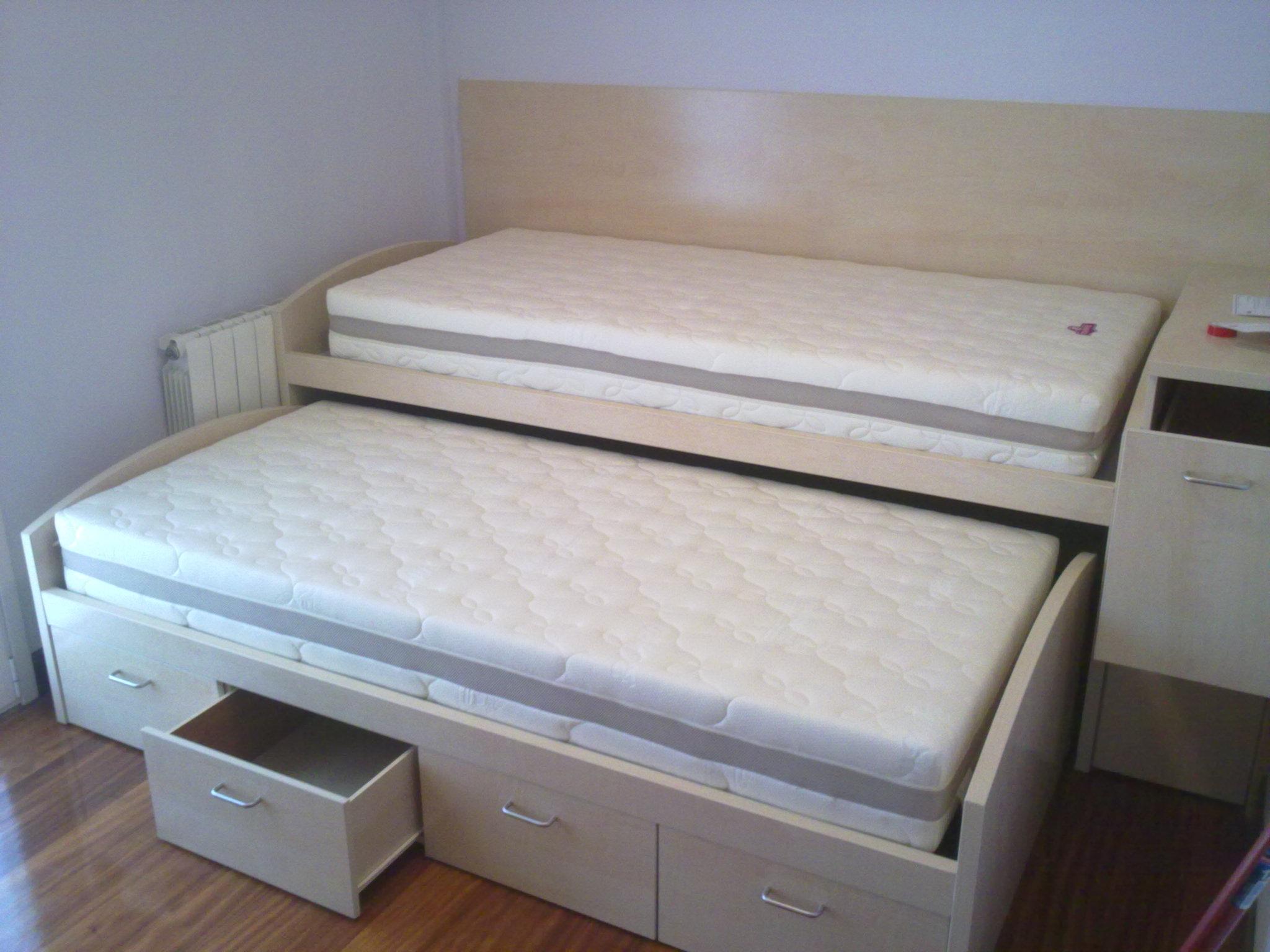 Reforma dormitorio con cama nido y litera for Cama litera